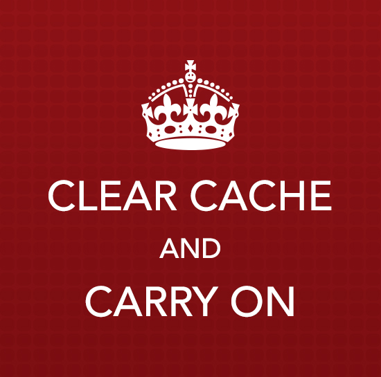 clearing cache
