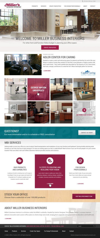 Millers BI Website Design Process Mock Up
