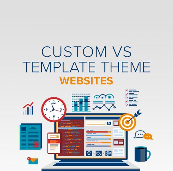 custom vs template themes for websites